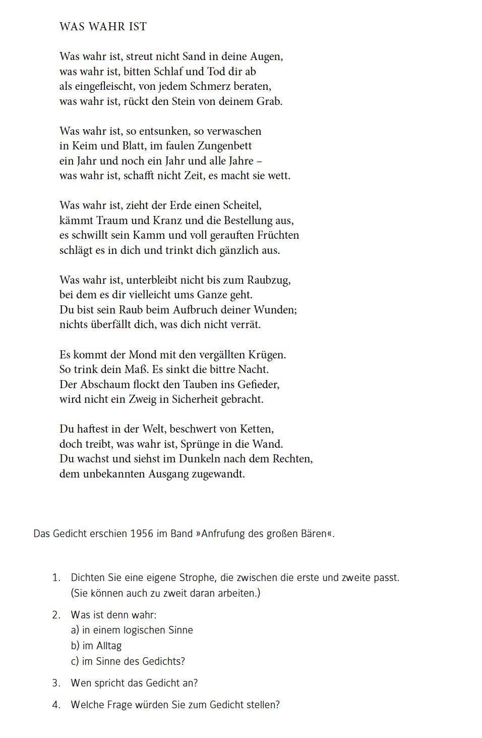 Gedicht zeit zu zweit
